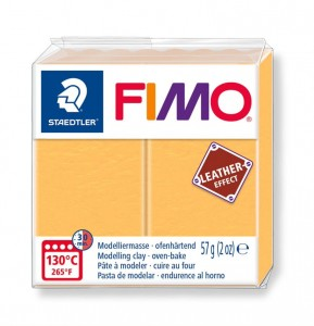 Modelina Fimo Leather Effect 57g, kolor 109 SAFFRON YELLOW - SZAFRANOWY
