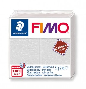 Modelina Fimo Leather Effect 57g, kolor 029 IVORY - KOŚĆ SŁONIOWA