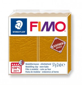 Modelina Fimo Leather Effect 57g, kolor 179 OCHRE - OCHRA