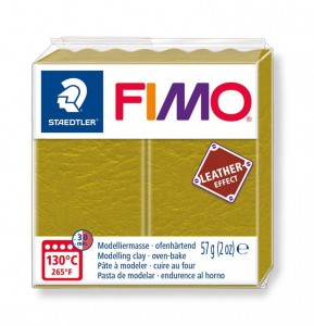 Modelina Fimo Leather Effect 57g, kolor 519 OLIVE - OLIWKOWY