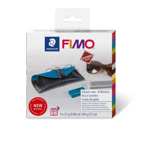 Zestaw modelin ETUI - FIMO LEATHER EFFECT 4 x 25 g
